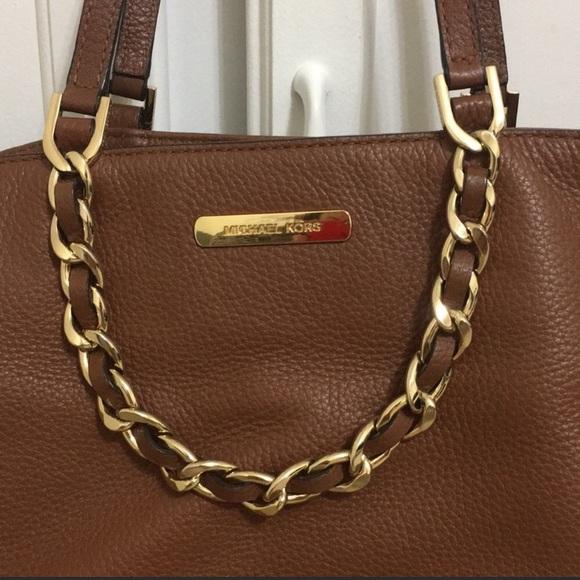 Michael Kors Handbags - Michael Kors Brown Leather Tote